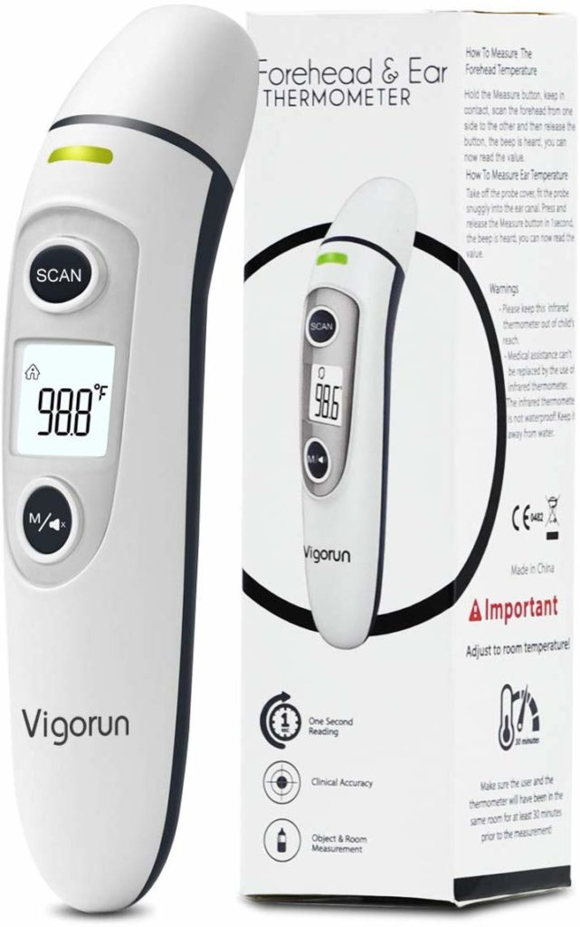 Kid and Adult Th Thermometer for Fever Ear and Forehead Mosen Baby Thermometer